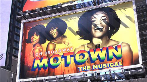 MOTOWN Billboard in Times Square